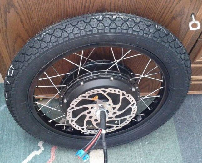 The Cromotor has proven to be an efficient, powerful, and reliable product. Also, using a heavy-duty 20-inch BMX rim with a moped tire (like Martin) is becoming very common on hot-rod E-bike builds